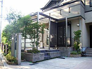横浜市O様邸  日除け屋根(ポリカーポネート)