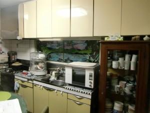 横浜市K様邸 造作出窓のサッシとキッチン