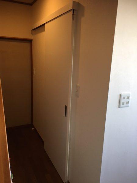川崎市宮前区 S様邸 内開きドアから引き戸へ