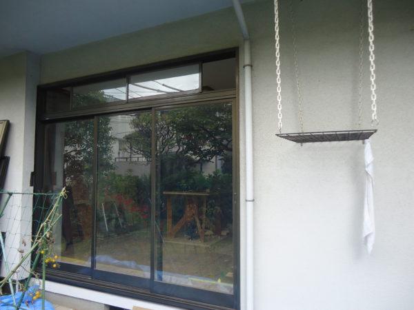 東京都大田区  スマートカバー工法で、リビングサッシを交換