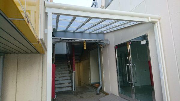 横浜市都筑区 Kビル  テラス屋根取付工事