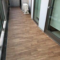 神奈川県横浜市都筑区 K様邸 バルコニー防滑性ビニール床シート貼